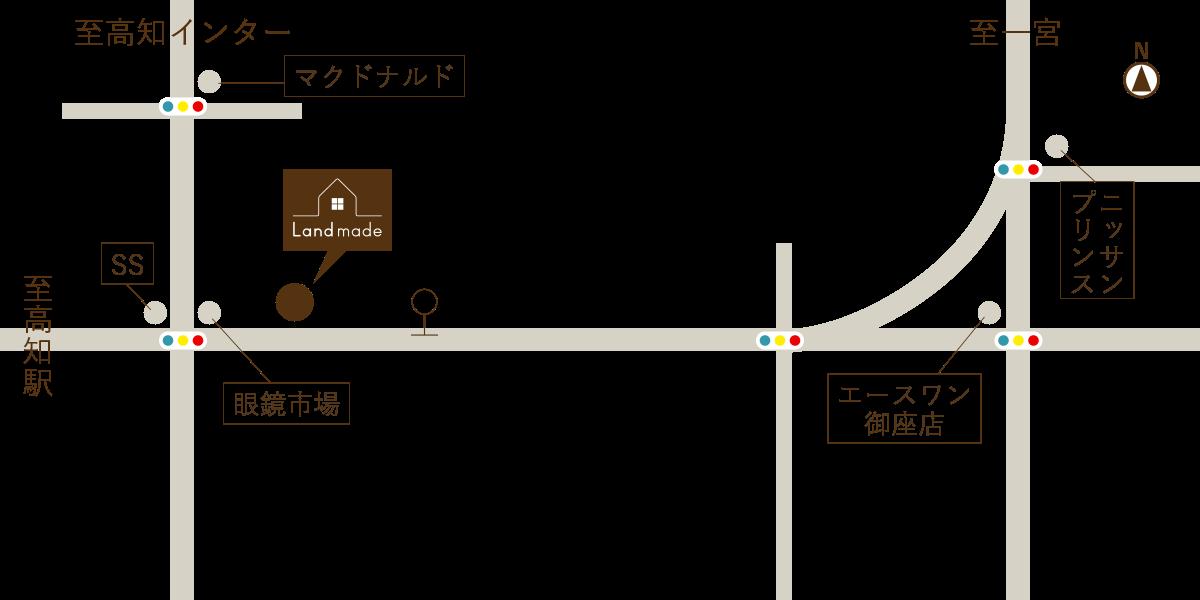 株式会社 らんどめいど 地図